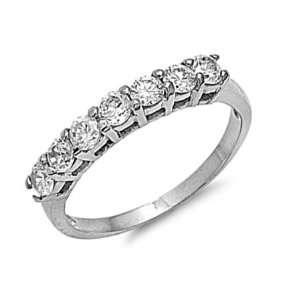 Stainless Steel Cubic Zirconia Engagement Ring Size 10 Jewelry