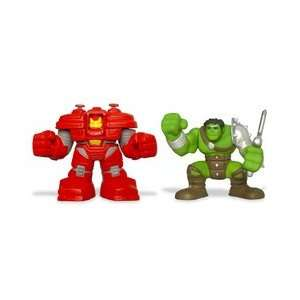 Hulk Super Hero Squad Figures King Hulk and Iron Man