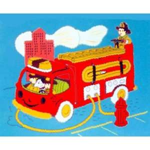 Fire Truck Wooden Jigsaw Puzzle  Toys & Games