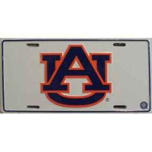 (6x12) Auburn University NCAA Tin License Plate
