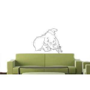 DUMBO Cartoon Wall MURAL Vinyl Decal Sticker Kids 020