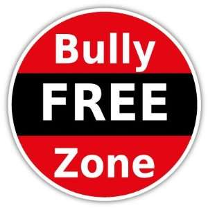 Bully free zone car bumper sticker decal 5 x 5
