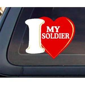 I Love My Soldier Car Decal / Sticker Automotive