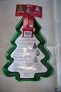 Iridescents Christmas Tree aluminum cake pan Jello mold BRAND NEW