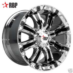 RBP 94R 20 inch CHROME Offroad Truck RIMS Wheels & NITTO TIRES