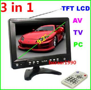 TFT LCD Color TV /Car Monitor with /PC Monitor