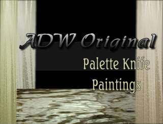 Modern Abstract art palette knife oil paintings