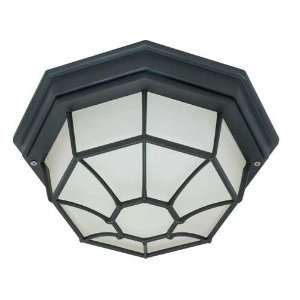 Nuvo 60/580 1 Light Fluorescent Textured Black Outdoor Ceiling Light