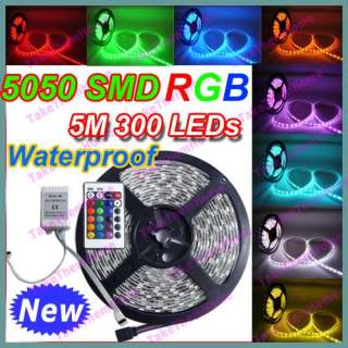 Waterproof 5050 RGB SMD Flexible Lamp Light Strip 5M 300 LED 60 LED/M